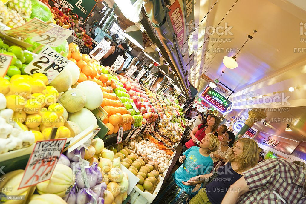 Pike Place Market stock photo