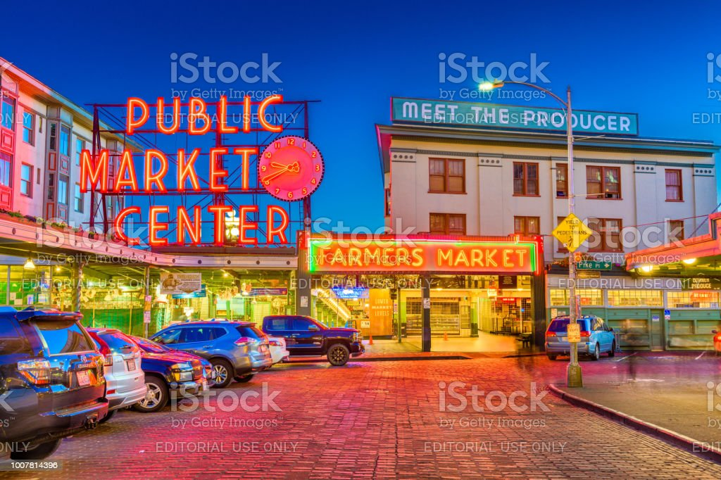 Pike Place Market Seattle stock photo