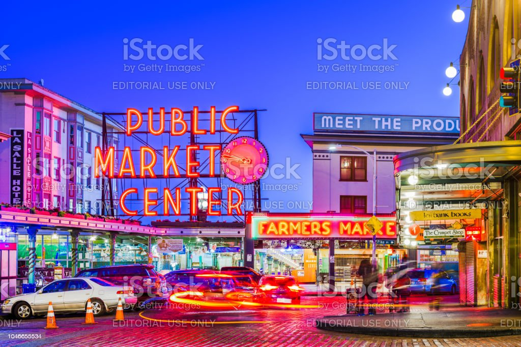 Pike Place Market Seattle stock photo