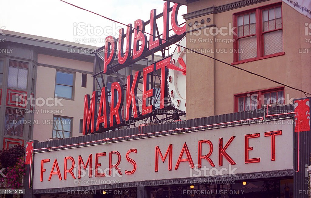 Pike Place Market - Seattle stock photo