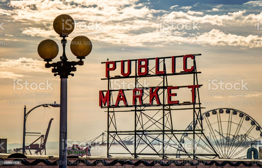 Pike Place Morning stock photo