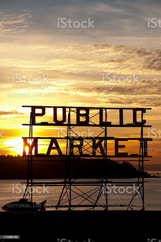 Pike Place royalty-free stock photo