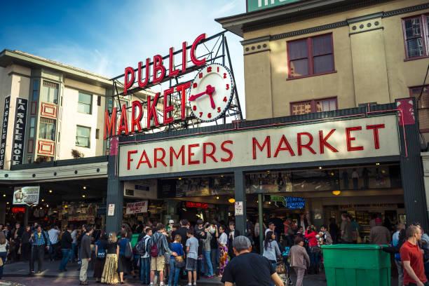 Pike Place - Public Market in Seattle stock photo