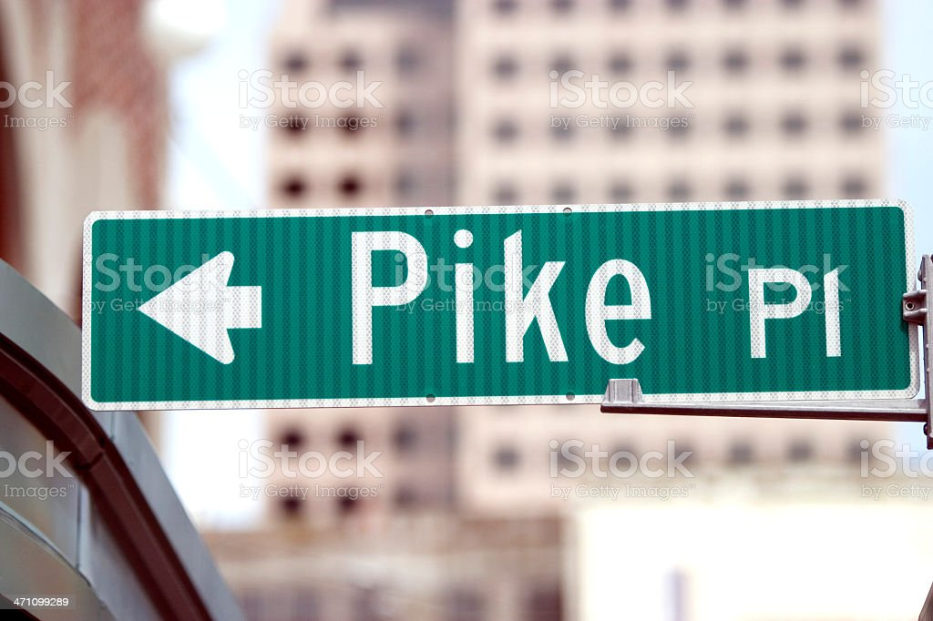 Pike Place Street Sign Seattle royalty-free stock photo