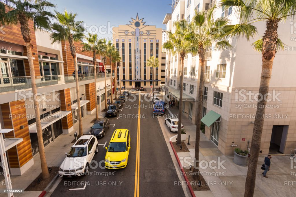 Pike Shopping center in Long Beach, CA stock photo