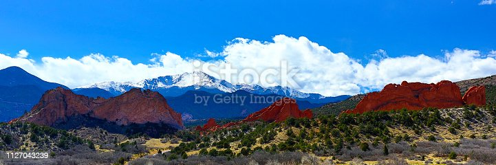 Pikes Peak and Garden of the Gods at Colorado Springs