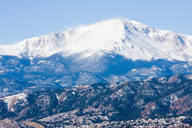 Pikes Peak Colorado stock photo