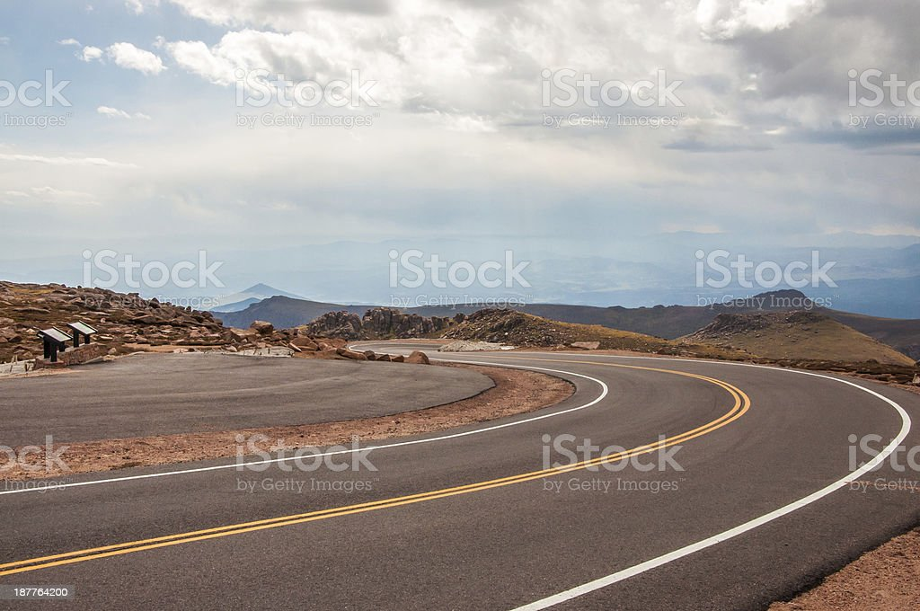 Pike's Peak, Colorado stock photo