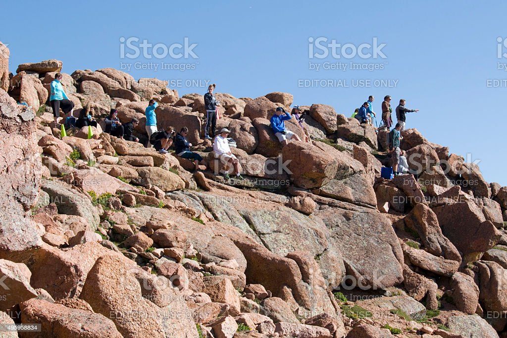 Pikes Peak Marathon and Ascent stock photo