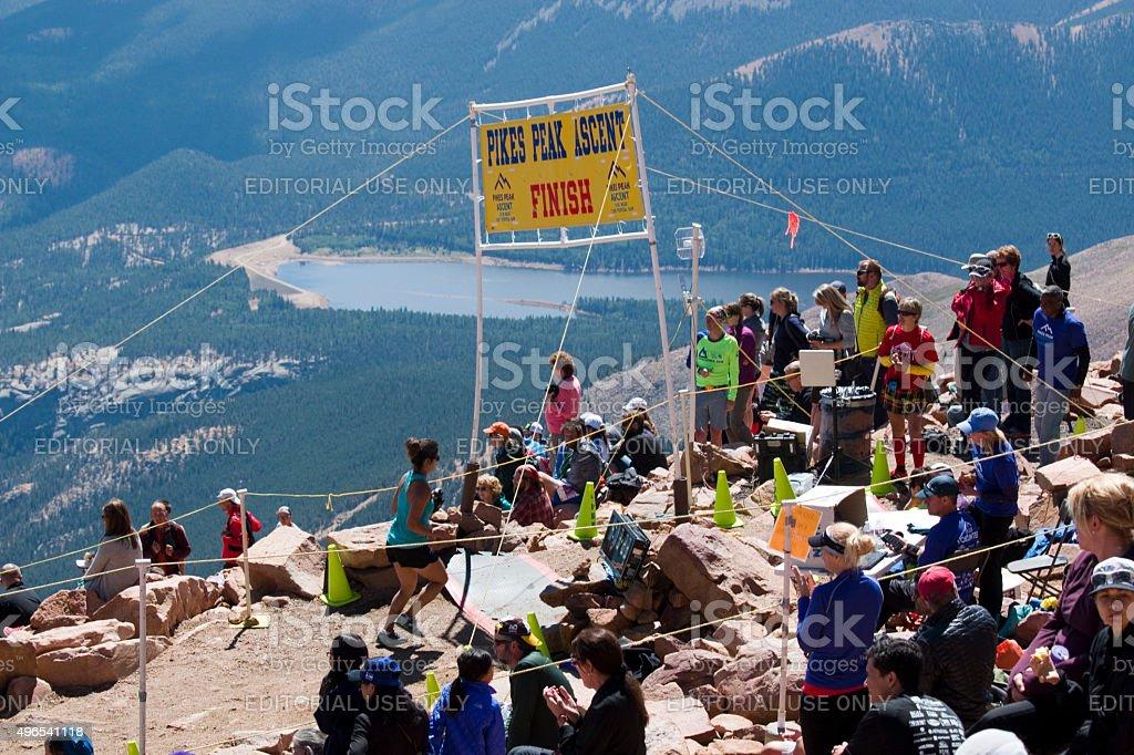 Pikes Peak Marathon and Ascent stock photo