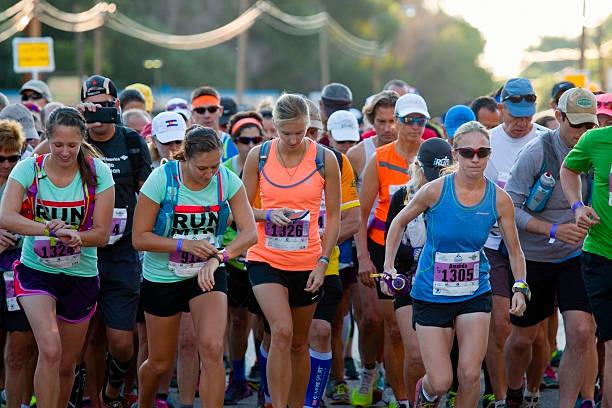 Pikes Peak Marathon and Ascent Race Start stock photo
