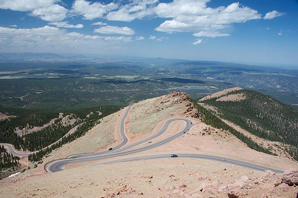 Pike's Peak stock photo