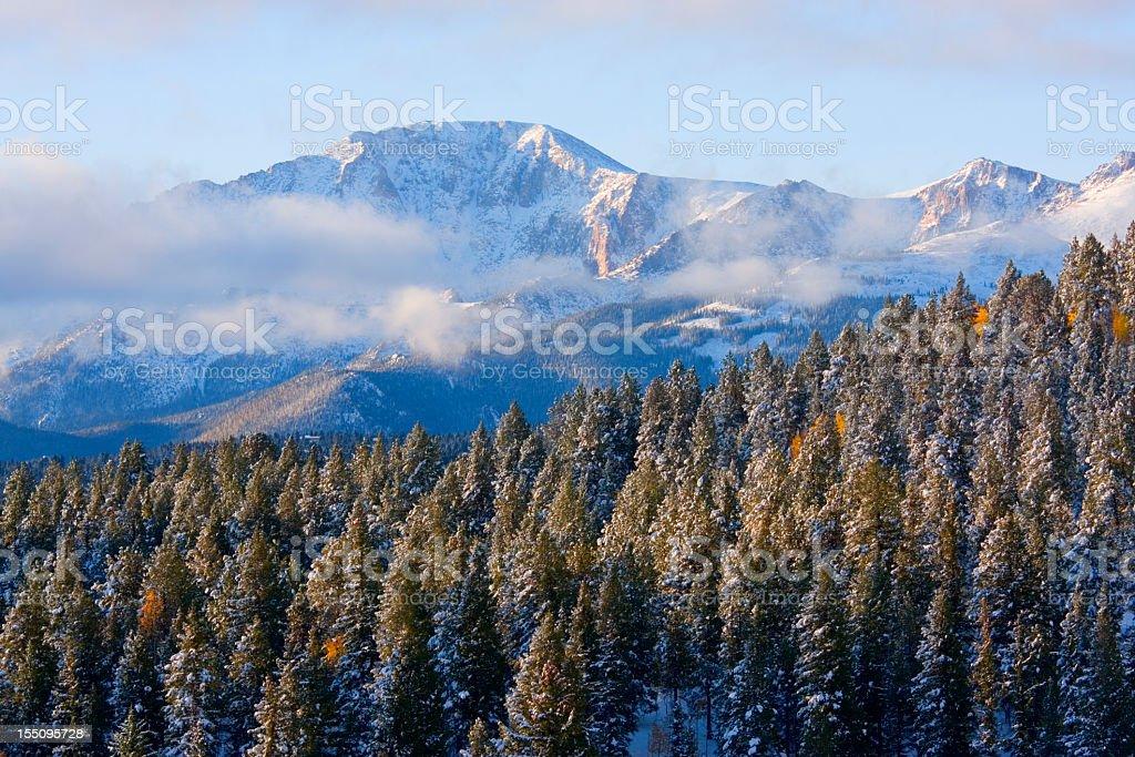 Pikes Peak Snow stock photo