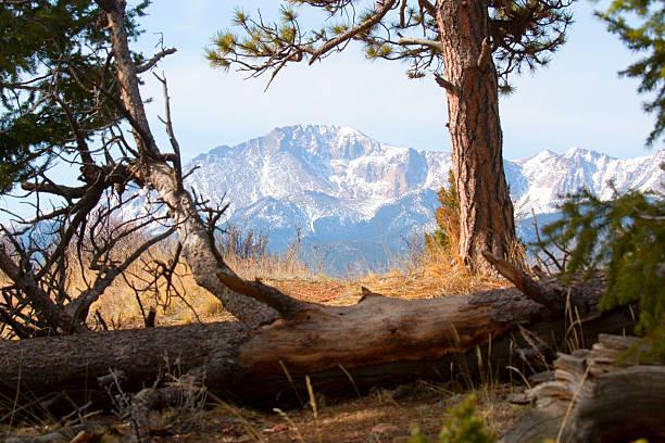 Pikes Peak & Trail to Bald Mountain stock photo