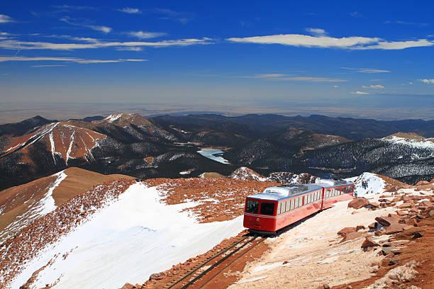 Pikes Peak Train stock photo