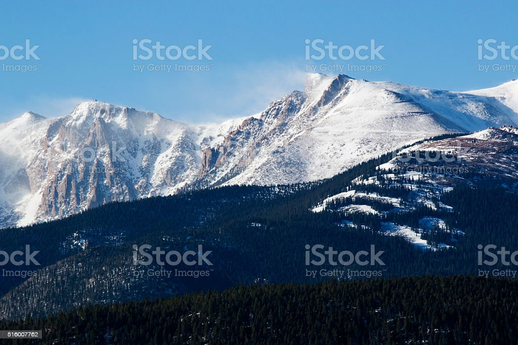 Pikes Peak Wind and Weather stock photo