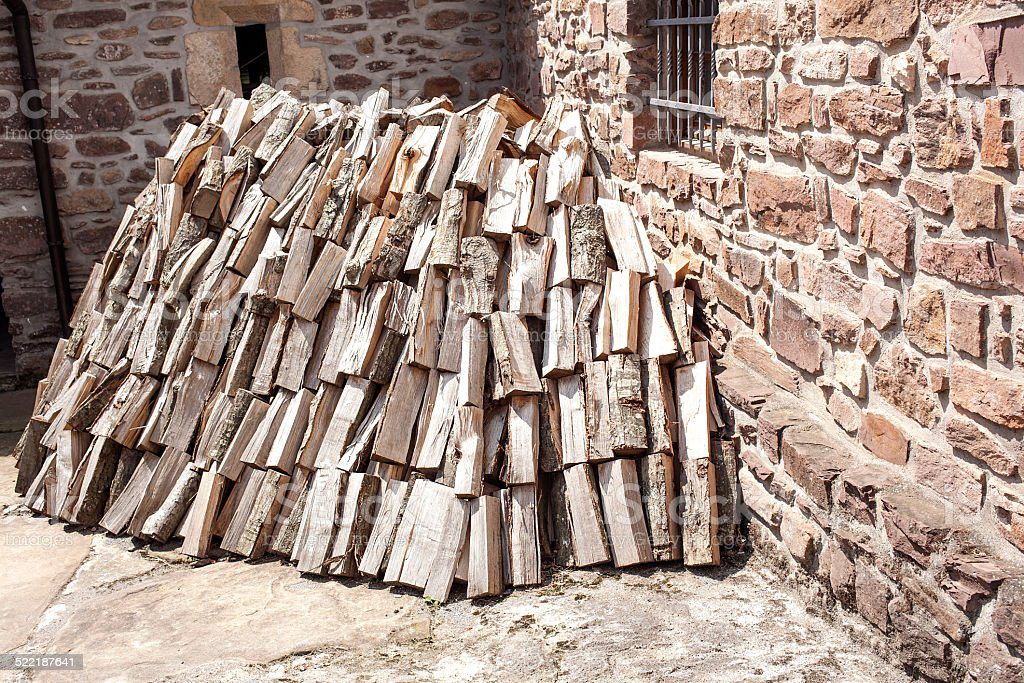 Pila de madera cortada stock photo