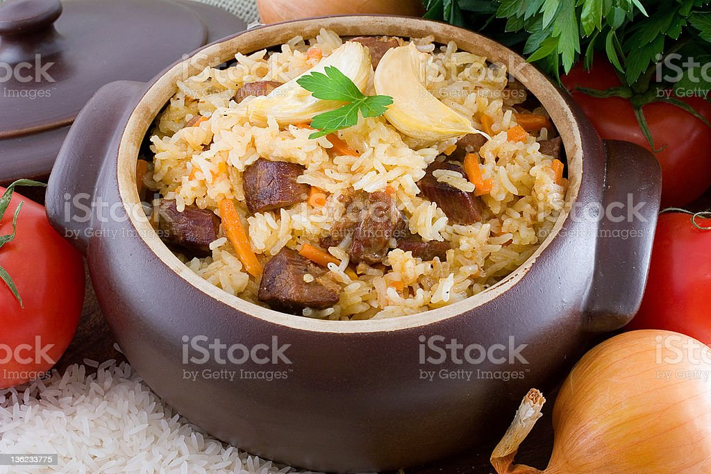 Pilaf royalty-free stock photo