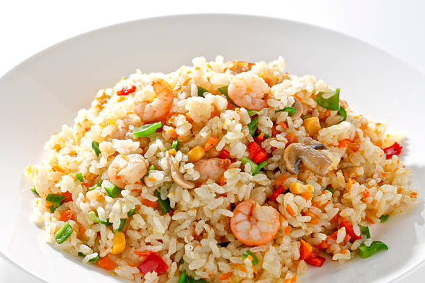 Pilaf ホームメイドのシーフードピラフ fried rice stock pictures, royalty-free photos & images