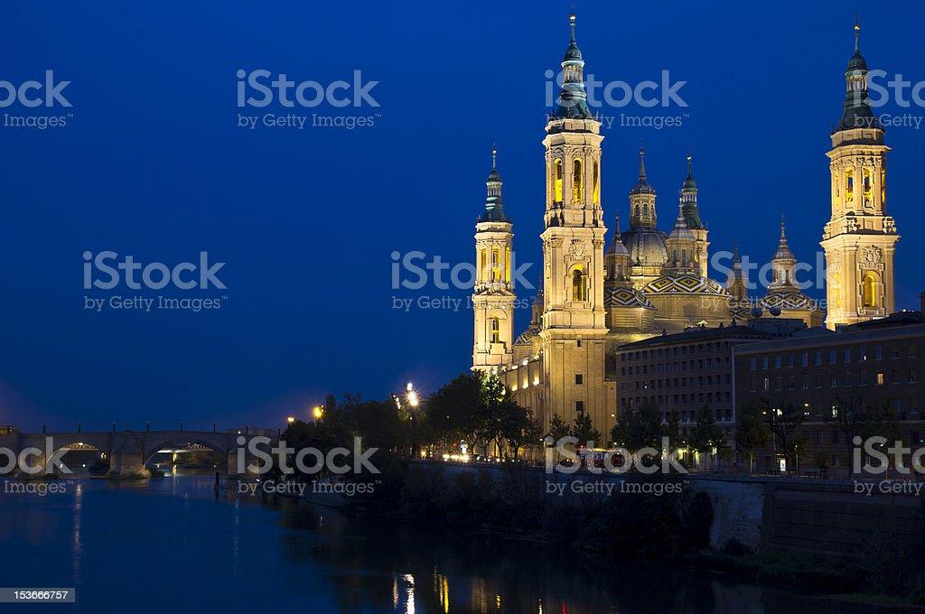 Pilar Basilica, Spain royalty-free stock photo