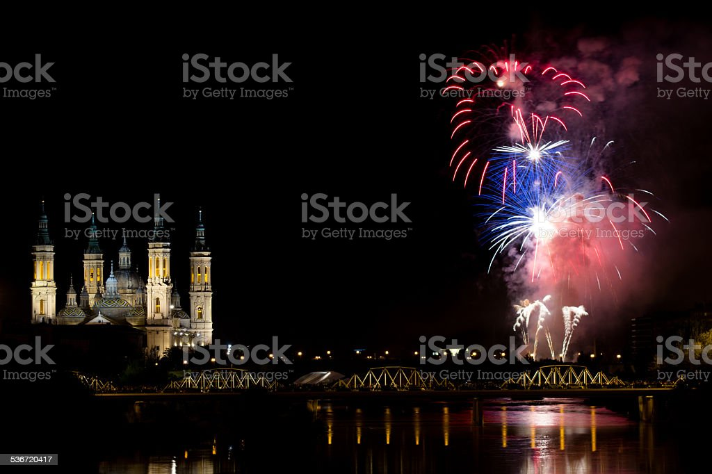 Pilar Fireworks stock photo