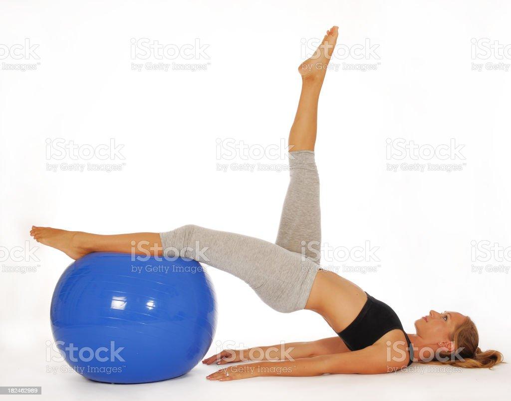 Pilates ball royalty-free stock photo