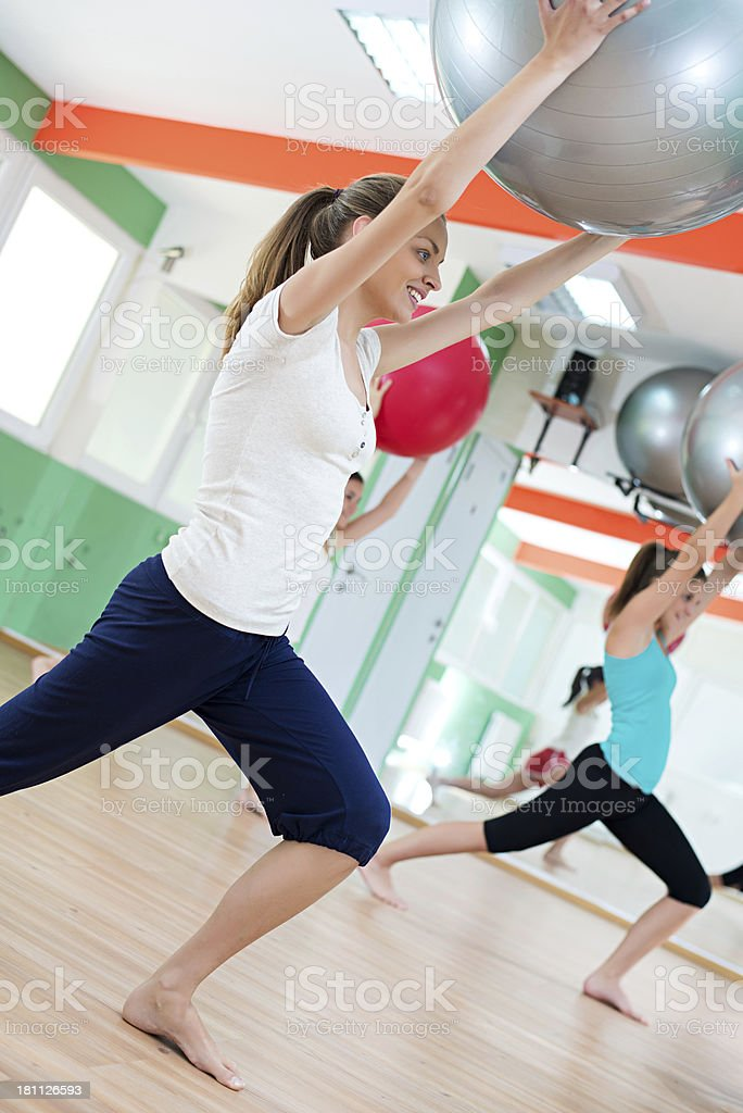 Pilates Ball Workout royalty-free stock photo