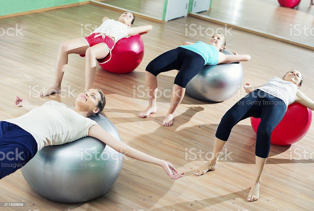 Pilates Ball Workout stock photo