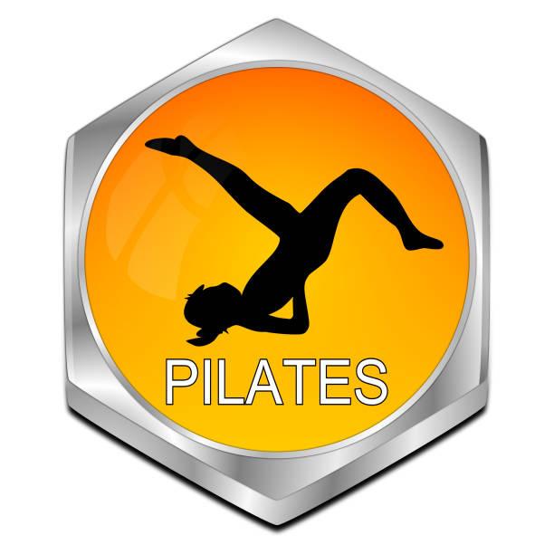 """schaltfläche """"pilates"""" - 3d illustration - blackroll übungen stock-fotos und bilder"""