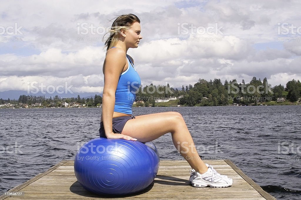 Pilates by The Water royalty-free stock photo