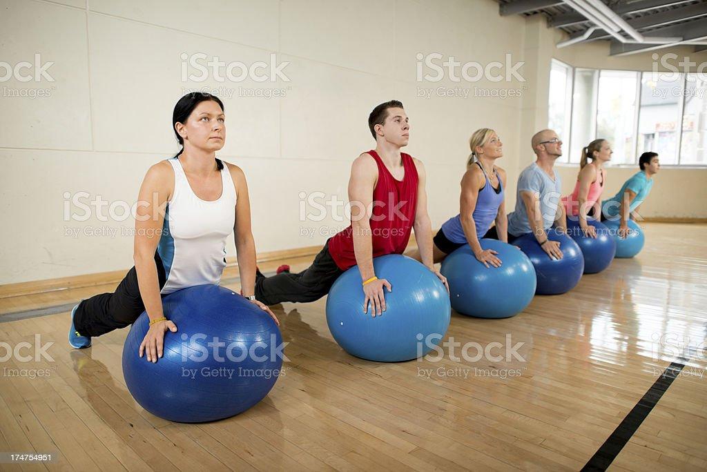 Pilates class. royalty-free stock photo