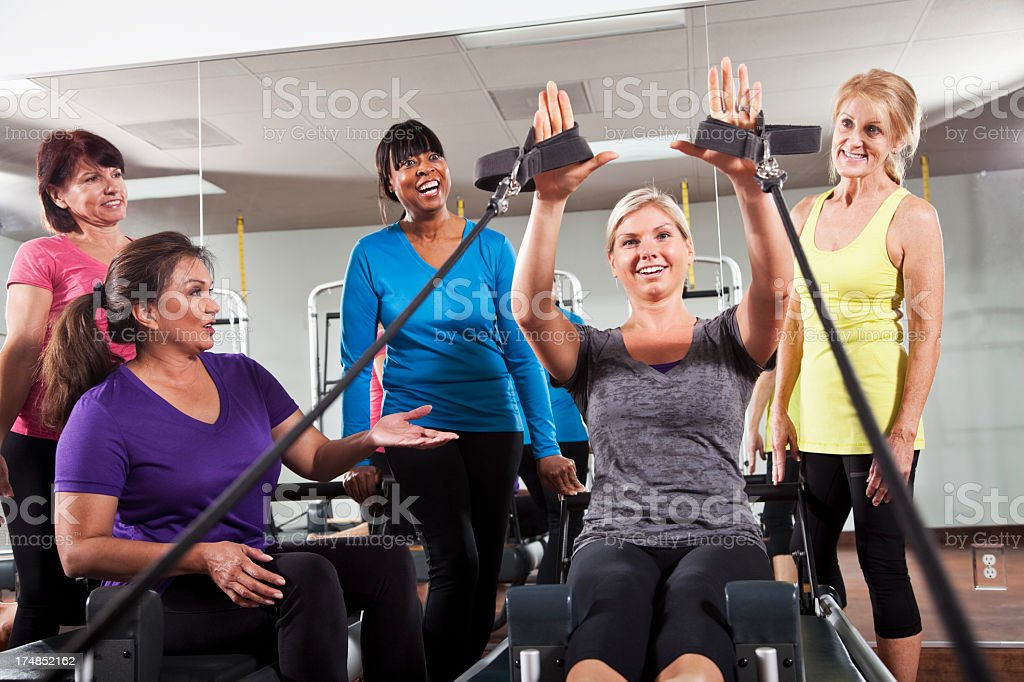 Pilates class royalty-free stock photo