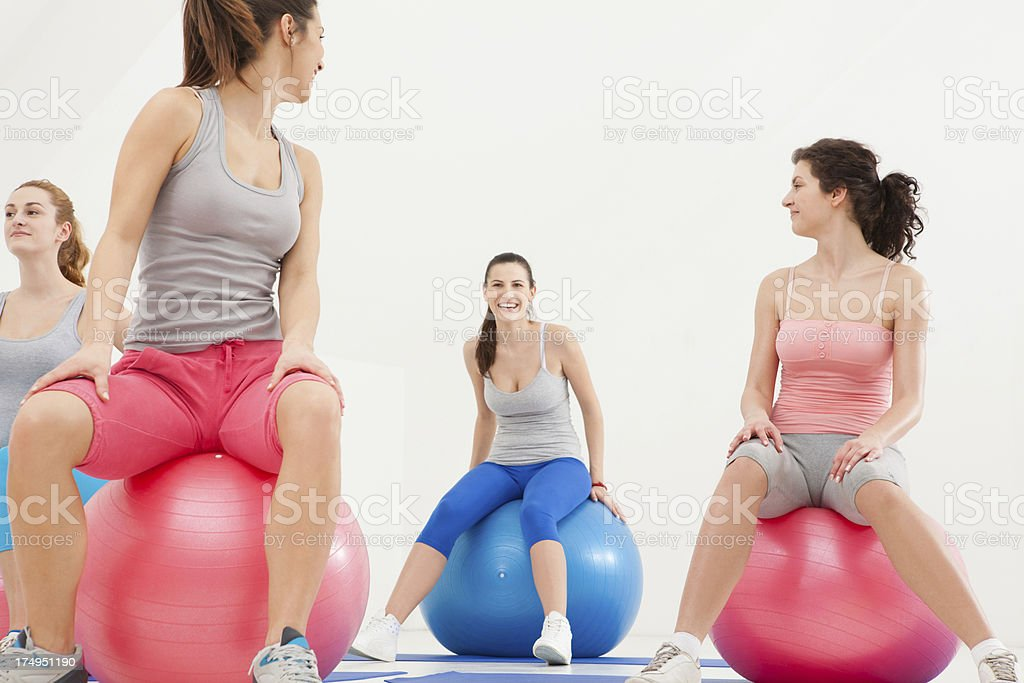 Pilates Class royalty-free stock photo