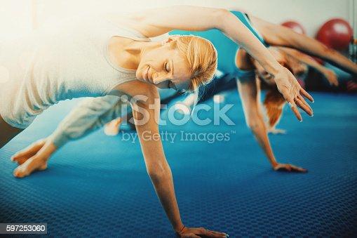 istock Pilates class. 597253060