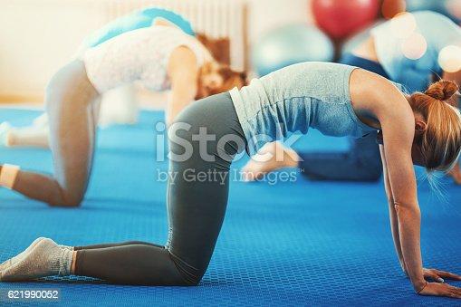 istock Pilates class. 621990052