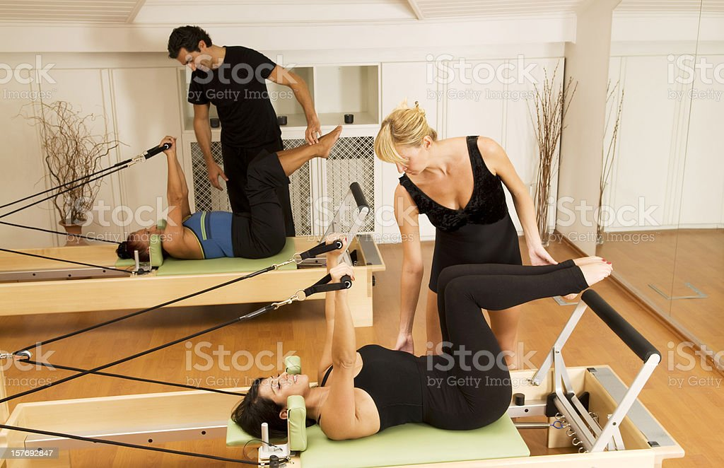 Pilates Classroom royalty-free stock photo