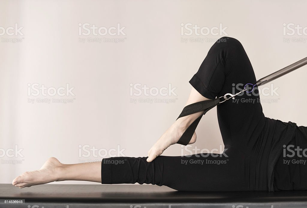 pilates exercise stock photo