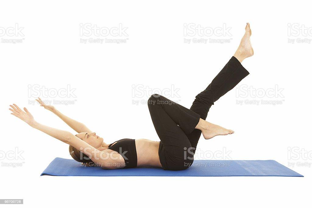 Pilates exercise series royalty-free stock photo