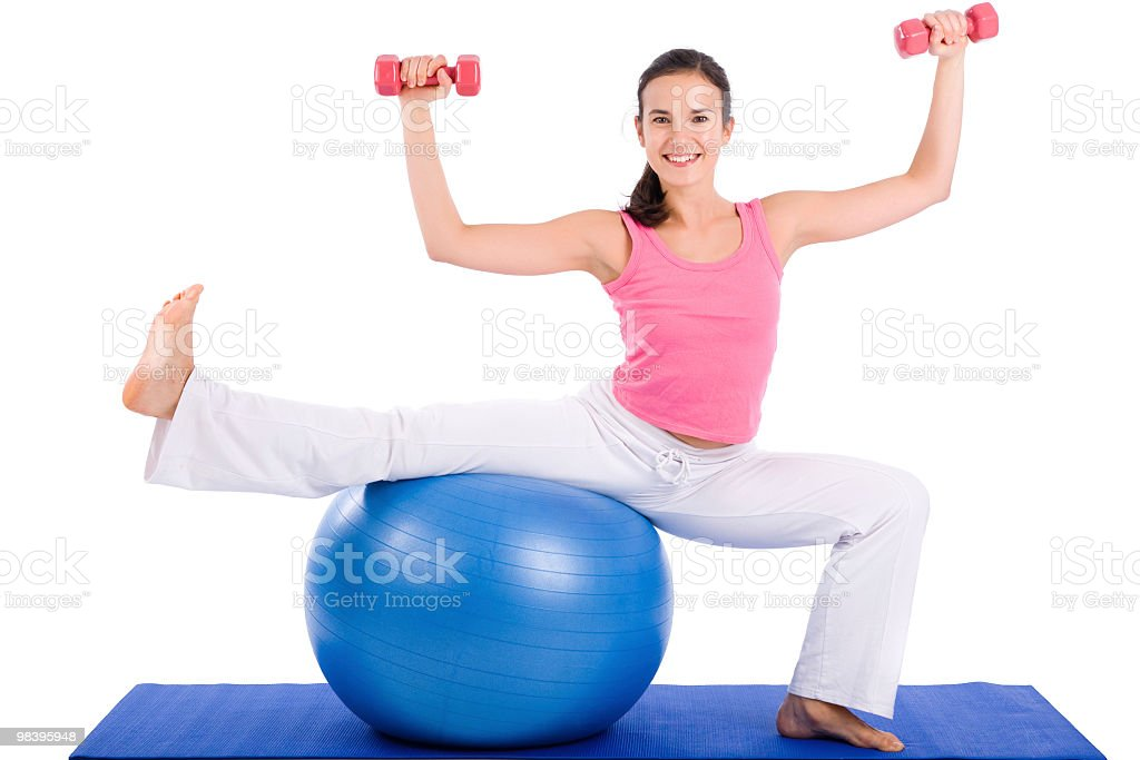 Pilates Exersice royalty-free stock photo