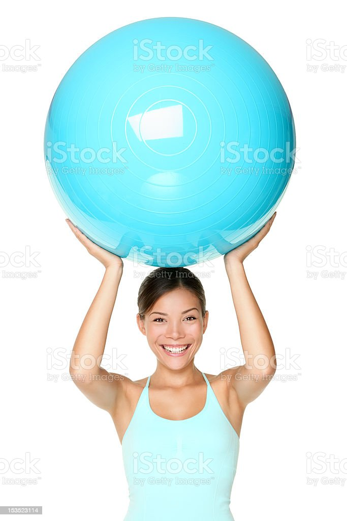 Pilates fitness woman isolated royalty-free stock photo