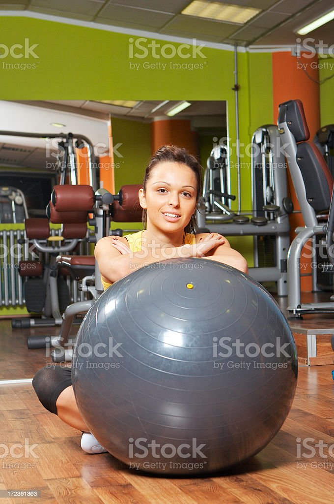 Pilates girl royalty-free stock photo