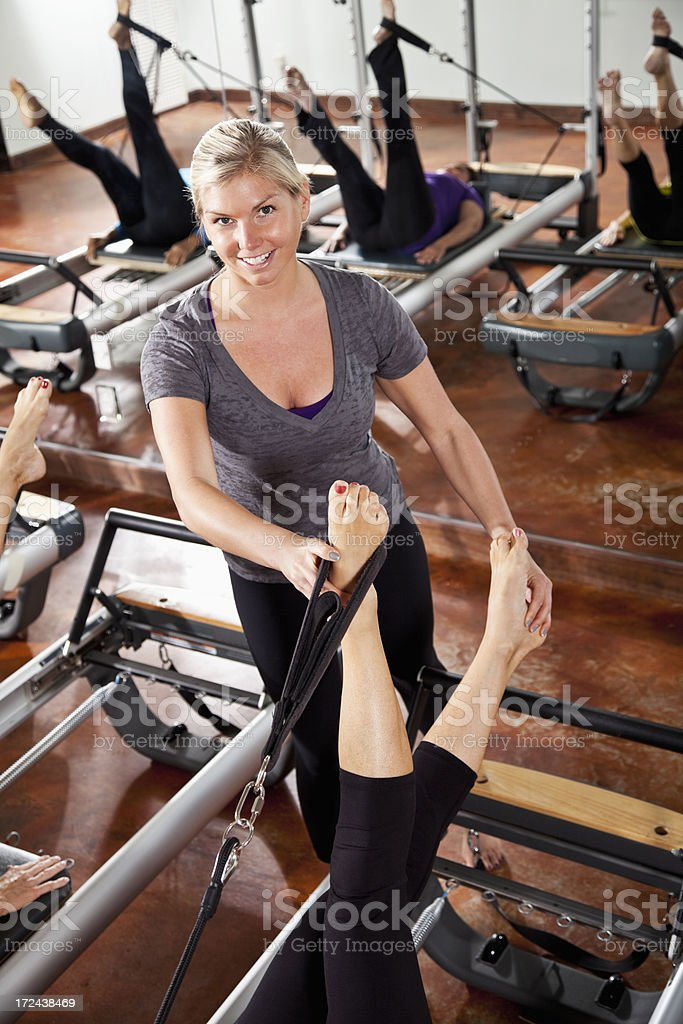 Pilates instructor royalty-free stock photo