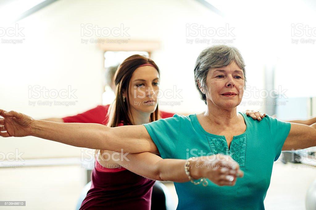 Pilates ist gut für Geist und Körper – Foto