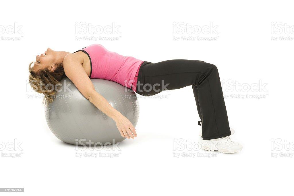 Pilates Pooped stock photo