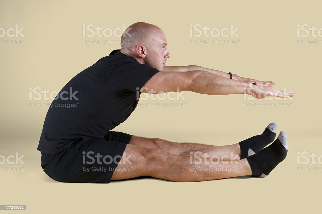 Pilates Position - Roll Up royalty-free stock photo