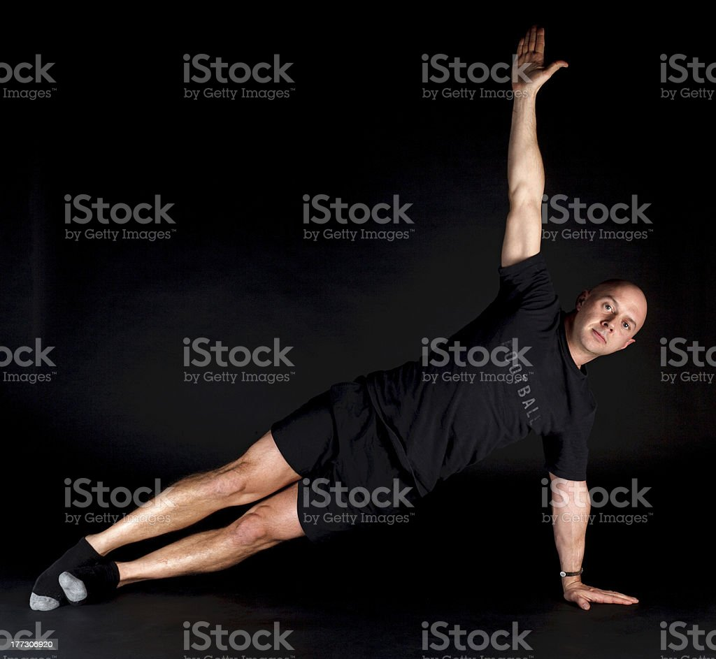 Pilates Position - Side Plank royalty-free stock photo