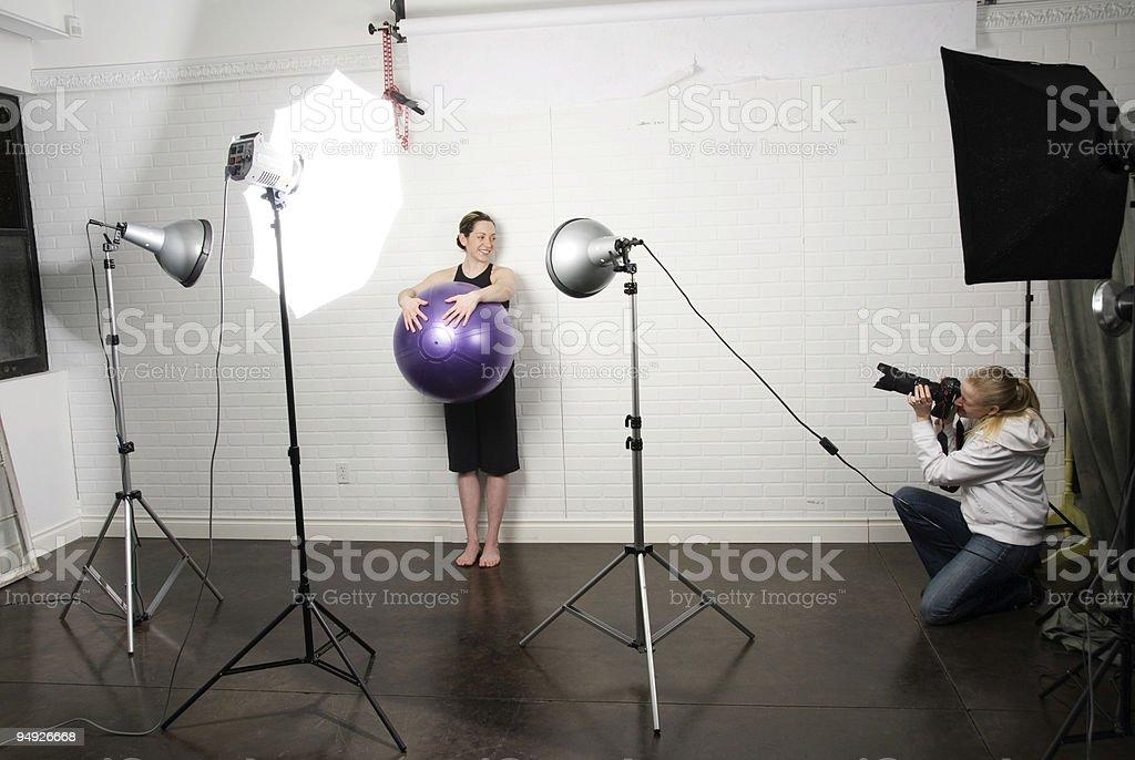 Pilates Shoot royalty-free stock photo