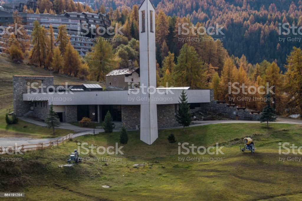 pila,val d'aoste,italy royalty-free stock photo