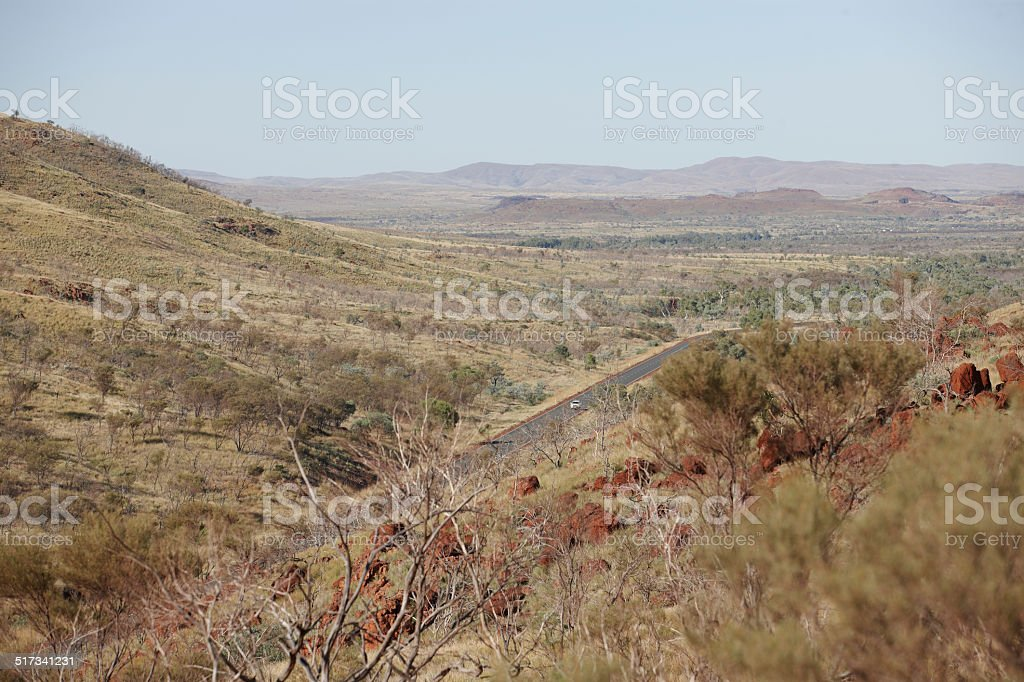 Pilbara highway Western Australia stock photo
