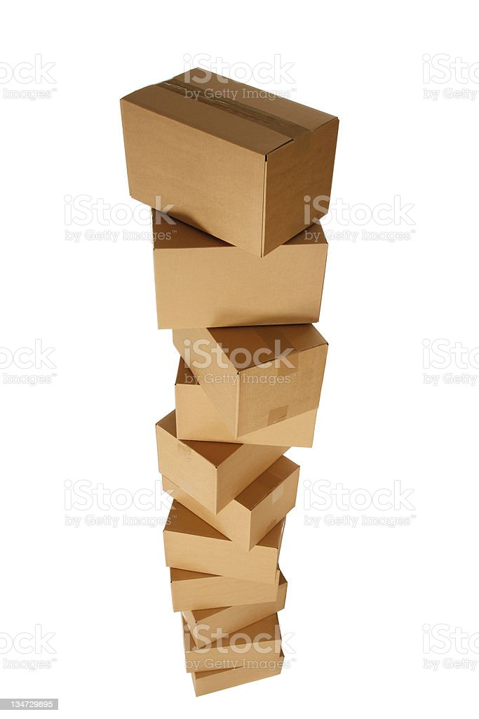 pile 11 boxes royalty-free stock photo